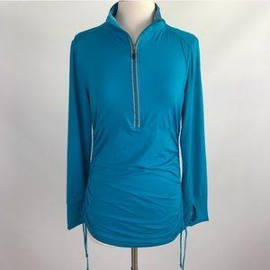 Women's Kyodan Turquoise Quarter Zip Pullover M